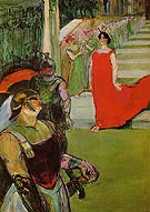 Scene from Messaline at the Bordeaux Opera 1900 - Henri Toulouse Lautrec