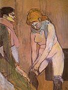Woman Adjusting Her Garter 1894 - Henri Toulouse Lautrec