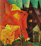 The Red Clown 1919 - Lyonel Feininger