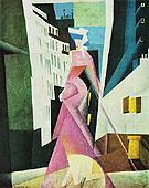 Lady in Mauve 1922 - Lyonel Feininger