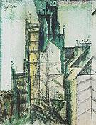 Rue St Jacques Paris 1953 - Lyonel Feininger