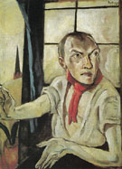 Self Portrait with Red Scarf 1917 - Max Beckman