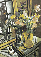 Still Life of Flowers with Mirror 1927 - Max Beckman