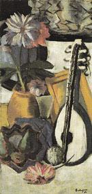 Still Life with Violet Dahlias 1926 - Max Beckman