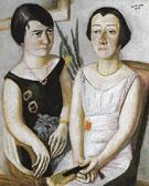 Double Portrait of Frau Swarzenski and Carola Netter 1923 - Max Beckman