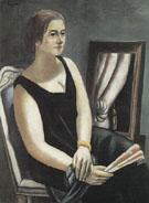 Portrait of Minna Beckmann Tube 1924 - Max Beckman