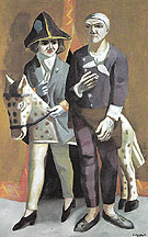 Carnival Double Portrait Max Beckmann and Quappi 1925 - Max Beckman