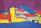 Montagne Sainte Victoire 1954 - Nicolas De Stael