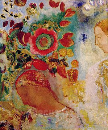 1299832624 large image odilon redon two young girls among flowers c1905 018 oil painting large Vlad Teen Models 656