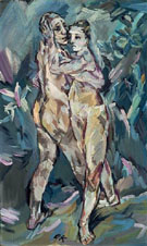 Two Nudes Lovers - Oskar Kokoschka