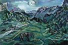 An Early Landscape - Oskar Kokoschka