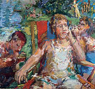 In The Garden 1934 - Oskar Kokoschka
