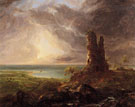 Romantic Landscape with Ruined Tower 1832 - Thomas Cole