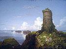 Italian Coast Scene with Ruined Tower 1838 - Thomas Cole