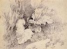 Study of Burdock Leaves 1740 - Thomas Gainsborough