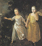 The Painters Daughters Chasing a Butterfly 1756 - Thomas Gainsborough