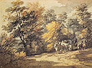 Wooded Landscape with a Waggon in the Shade 1760 - Thomas Gainsborough