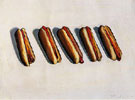Five Hot Dogs 1961 - Wayne Thiebaud