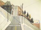 24th Street Intersection 1977 - Wayne Thiebaud