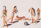 Five Eating Figures 1963 - Wayne Thiebaud