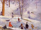 Sledding Central Park 1912 - William Glackens