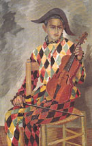 Arlecchino Con Violino 1939 - Gino Severini