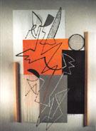 Collage Orange Et Bleu 1965 - Gino Severini