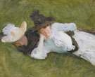 Two Girls on A Lawn 1889 - John Singer Sargent