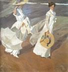 Walking Along The Sea Shore 1909 - Joaquin Sorolla
