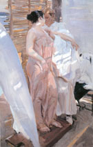 The Pink Robe 1916 - Joaquin Sorolla
