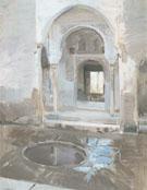 The Patio De La Justicia In The Alhambra Granada 1910 - Joaquin Sorolla