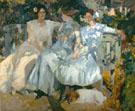 Senora De Sorolla And Her Daughters 1910 - Joaquin Sorolla
