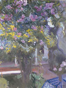Oleanders In The Courtyard of The Sorolla Residence 1918 - Joaquin Sorolla