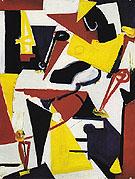Red White Blue Yellow Black 1939 - Lee Krasner