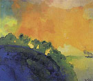 Mountain Slope Over the Sea - Emil Nolde