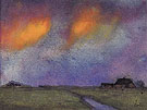 Marshy Landscape Under the Evening Sky - Emil Nolde