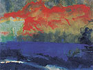 Blue Sea and Red Clouds - Emil Nolde