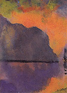 Cliff by the Sea in Evening Light - Emil Nolde