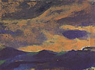 Dark Sea with Brown Sky - Emil Nolde
