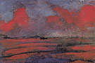 Landscape in Red Light - Emil Nolde