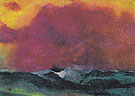 Sea with Red Sky - Emil Nolde