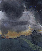 Mountain Landscape with Dark Clouds - Emil Nolde