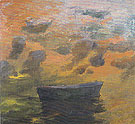 Boat and Clouds 1967 - Elmer Nelson Bischoff