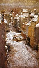 Rue de Flandre in the Snow 1881 - James Ensor