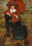 The Lady with the Red Parasol 1880 - James Ensor