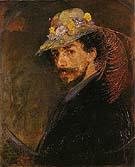 Ensor with Flowered Hat - James Ensor
