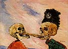 Skeleton Fighting Over a Pickled Herring 1891 - James Ensor