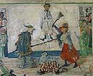 Maksk Fighting Overa Hanged Man 1891 - James Ensor