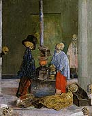 Skeleton Trying to Warm Themselves 1889 - James Ensor