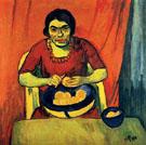 Bowl of Oranges Woman Peeling Orange 1910 - Max Pechstein